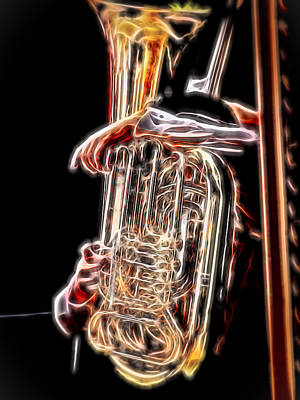 Photograph - Tuba Player by Ron Roberts