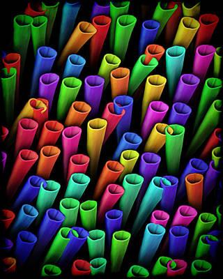Extrusion Digital Art - Tubes Of Color by Kurt Van Wagner