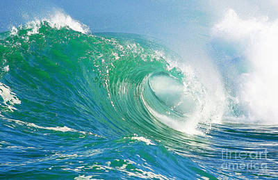 Surfing Photograph - Tubing Wave by Paul Topp