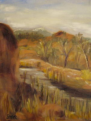 Southern Utah Painting - Tucked Away by Kathy Stiber
