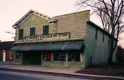 Tuckers Country Store In Virginia Print by Thomas D McManus