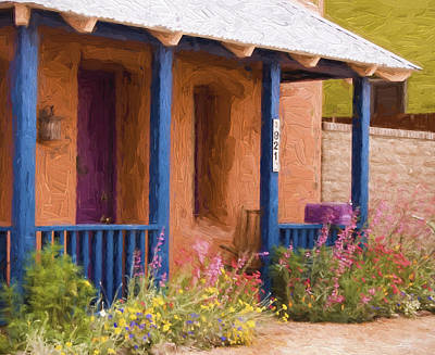 Southwest Mixed Media - Tucson 821 Barrio Painterly Effect by Carol Leigh