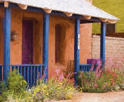 Tucson 821 Barrio Painterly Effect Print by Carol Leigh