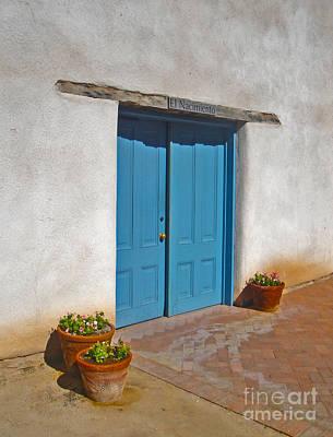 Tucson Arizona Blue Door Print by Gregory Dyer
