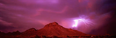 Lightning Bolt Photograph - Tucson Az Usa by Panoramic Images