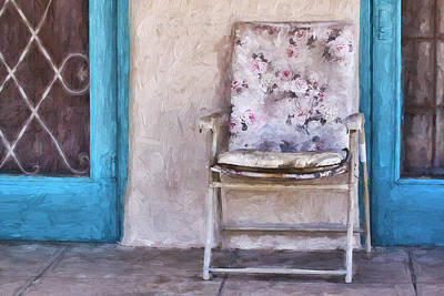 Detail Mixed Media - Tucson Front Porch Painterly Effect by Carol Leigh