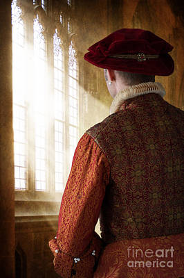Gold Earrings Photograph - Tudor Man In A Cathedral by Lee Avison