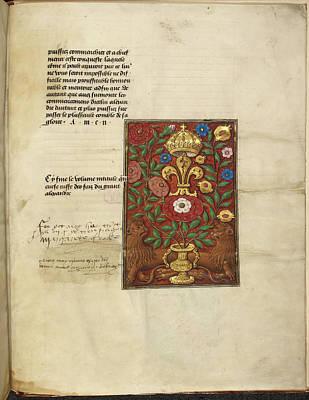 Tudor Rose Print by British Library