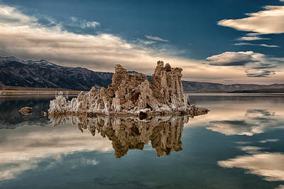 Tufa Reflections Print by Cat Connor