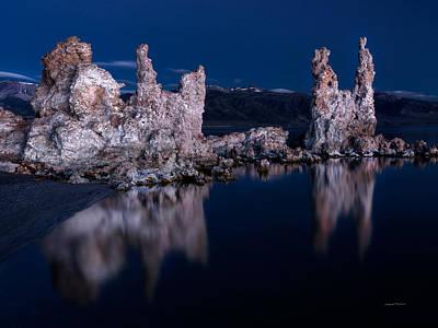 Dry Lake Photograph - Tufa Reflections by Leland D Howard