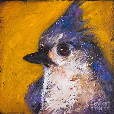 Titmouse Painting - Saves Going To Heaven - Tufted Titmouse by Rosemary Conroy