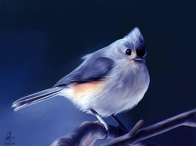 Titmouse Painting - Tufty The Titmouse by Pennie  McCracken