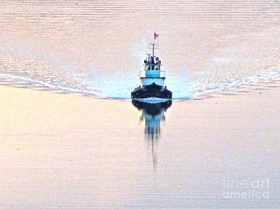Tacoma Photograph - Tugboat At Dawn by Sean Griffin