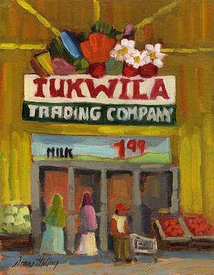 Tukwila Trading Co. Print by Diane McClary