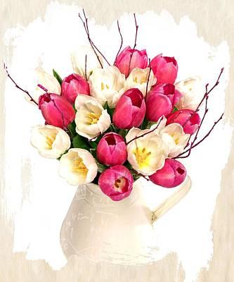 Buy Online Photograph - Tulip Blooms by Debra  Miller