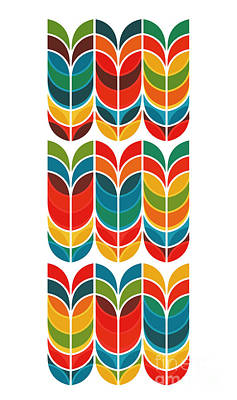 Geometric Tulip Print by Nava Seas