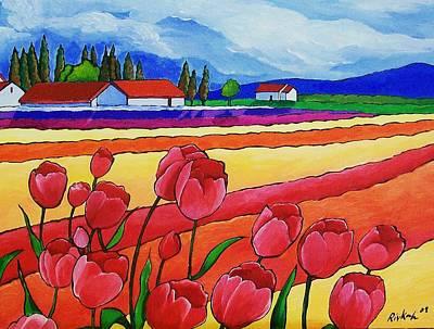 Tulip Festival Painting - Tulip Festival by Rivkah Singh