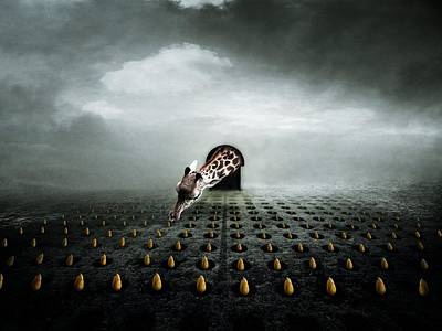 Giraffe Digital Art - Tulip Thief  Two by Johan Lilja