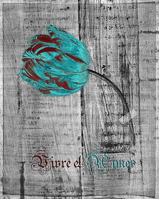 Tulip - Vivre Et Aimer S12ab4t Print by Variance Collections