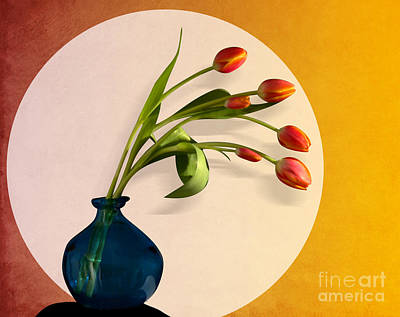 Orchid Digital Art - Tulips 3 by Mark Ashkenazi