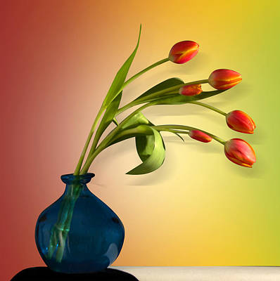 Orchid Digital Art - Tulips 5 by Mark Ashkenazi