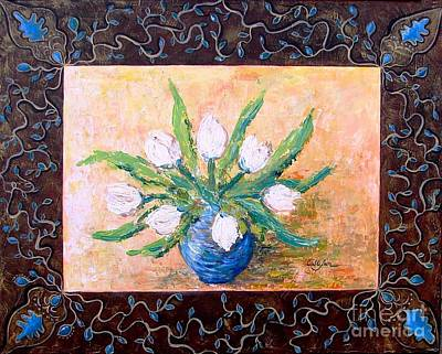 Interior Design Painting - Tulips In A Vase by Cristina Stefan