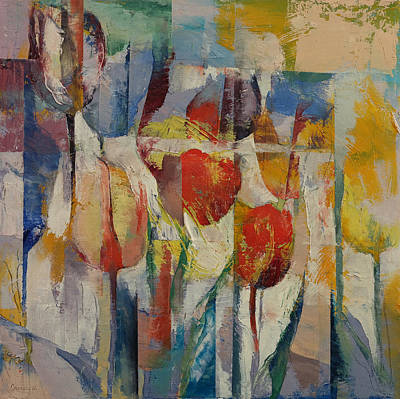 Tulpe Painting - Tulips by Michael Creese