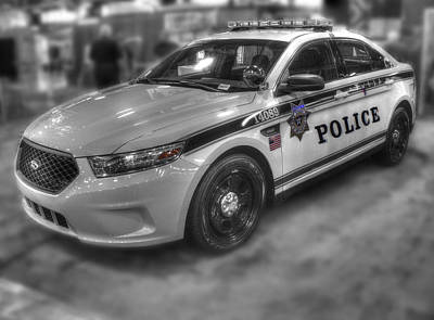 Old Police Cruiser Photograph - Tulsa Police At State Fair P1 by John Straton
