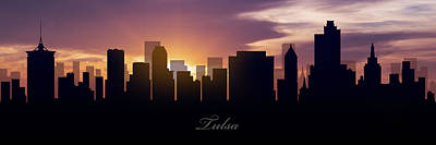 Oklahoma Photograph - Tulsa Sunset by Aged Pixel