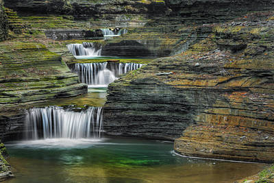 Finger Lakes Photograph - Tumblin Down by Bill Wakeley