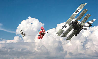 Fokker Photograph - Tumult In The Clouds by Pat Speirs