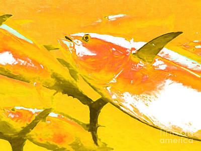 Wingsdomain Digital Art - Tuna Fish M54 by Wingsdomain Art and Photography