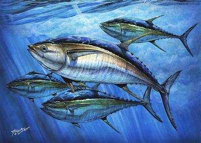Tuna In Advanced Print by Terry Fox