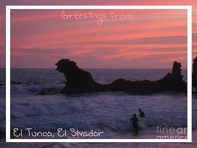 Surfing Photograph - Tunco Card Oval Sunset by Stav Stavit Zagron