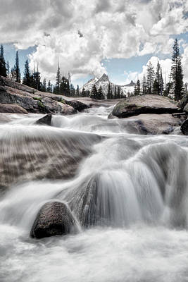 Tuolumne River And Unicorn Peak Print by Chris Frost