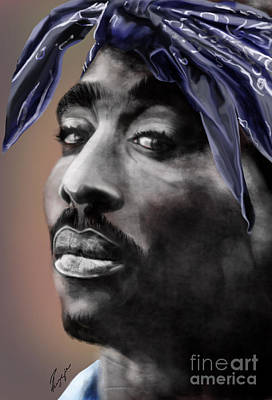Rapper Painting - Tupac - The Tip Of The Iceberg  by Reggie Duffie