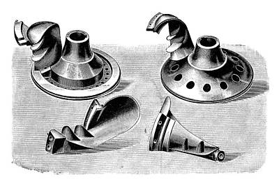 Turbine Parts Print by Science Photo Library