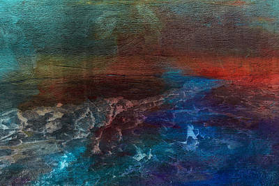 Deep Blue Painting - Turbulence by Bonnie Bruno