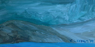 Turbulent Skies Painting - Turbulent Skies And A Glacier  by Carolina Liechtenstein