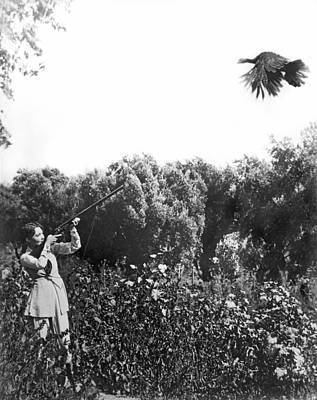 Movie Star Photograph - Turkey Hunting by Underwood Archives