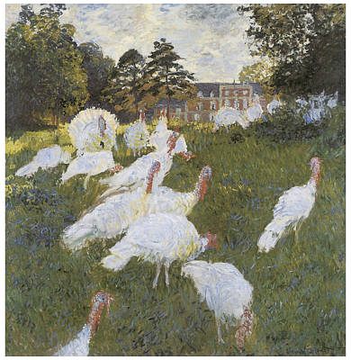 Turkeys Print by Claude Monet