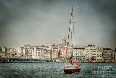 Galata Photograph - Turkish Boat by Emily Kay