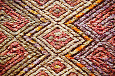 Persian Carpet Photograph - Turkish Rug by Tom Gowanlock