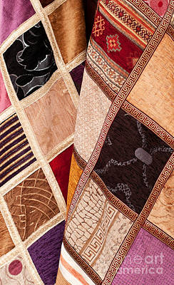 Fabric Quilt Photograph - Turkish Textiles 05 by Rick Piper Photography
