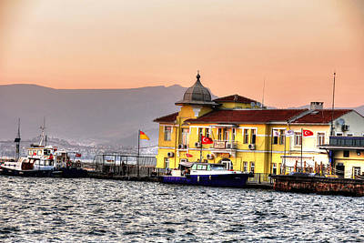 Turkish Water Police Station Print by Mark Alexander