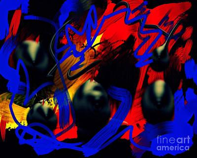 Digital Abstract Drawing - Turmoil by Paulo Guimaraes