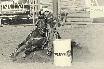 Barrel Racing Photograph - Turn by Caitlyn  Grasso