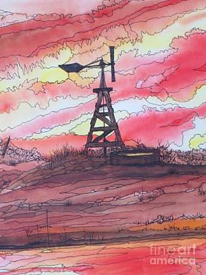 Turn Off The Windmill  Print by Lorita Montgomery