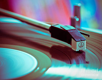 Vintage Music Photograph - Turn Table Rock by Sonja Quintero