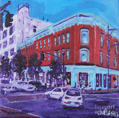 Intersection Painting - Turn The Corner by Michael Ciccotello
